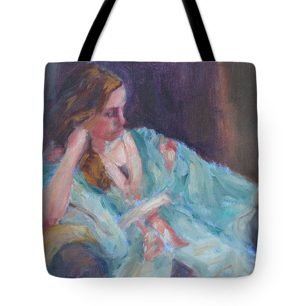 Inner Light - Original Impressionist Painting Tote Bag by Quin Sweetman