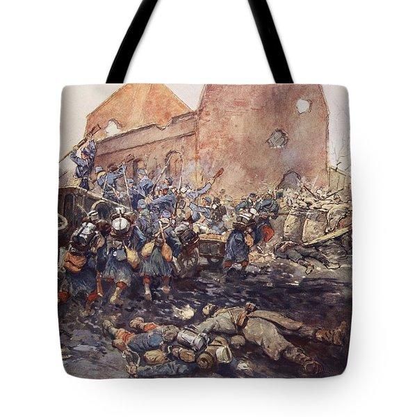 The Assualt Of Vermelles, 1915 Tote Bag