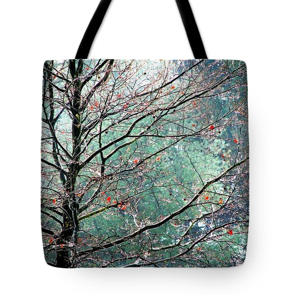 The Aura Of Trees Tote Bag by Angela Davies