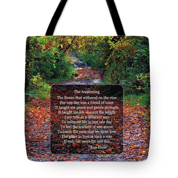 Tote Bag featuring the photograph The Awakening by Ron Haist