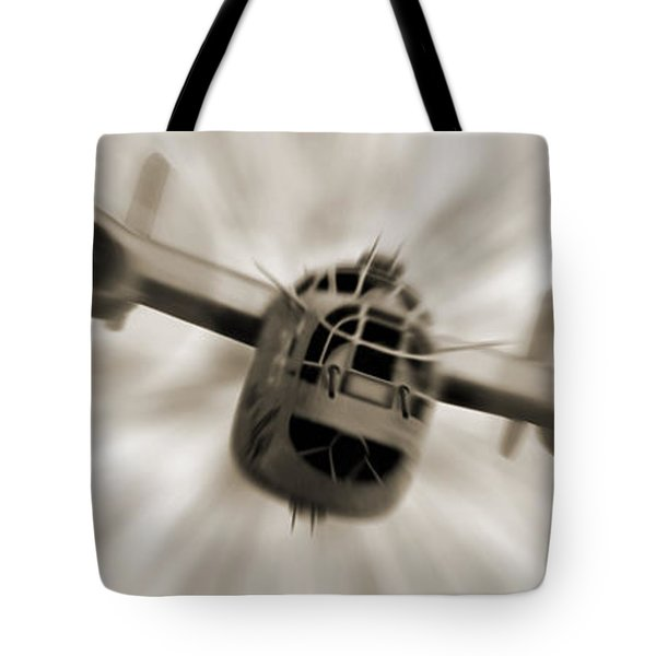 The B - 24 Liberator Panoramic  Tote Bag