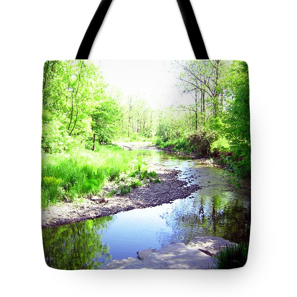 The Babbling Stream Tote Bag by Shawn Dall