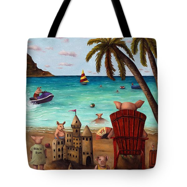 The Bacon Shortage Brighter Tote Bag by Leah Saulnier The Painting Maniac
