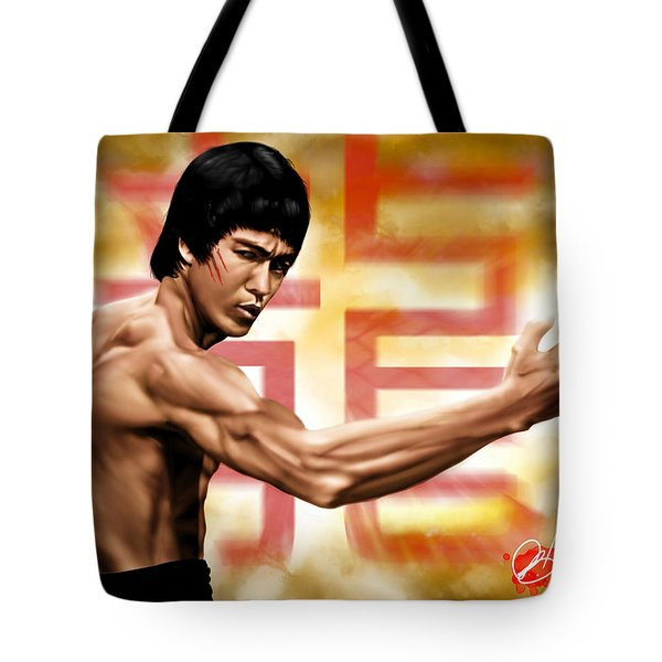 The Baddest Tote Bag by Pete Tapang