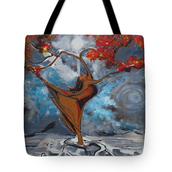 The Balancing Act Tote Bag