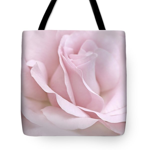 The Ballerina Pink Rose Flower Tote Bag by Jennie Marie Schell