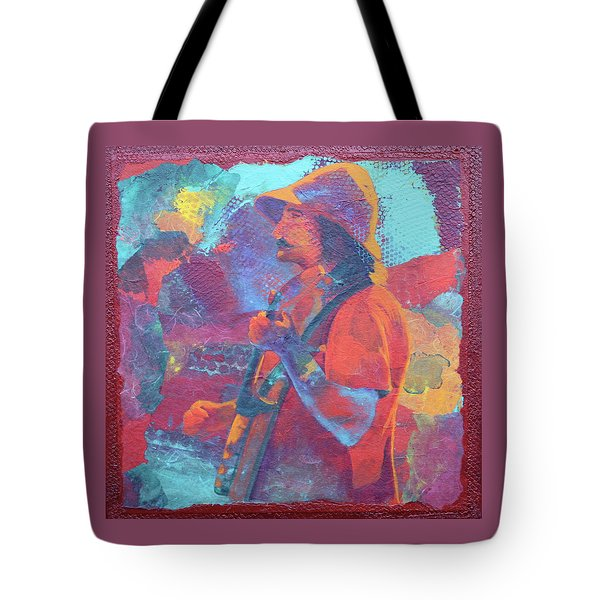 Tote Bag featuring the painting The Banjo Player by Nancy Jolley