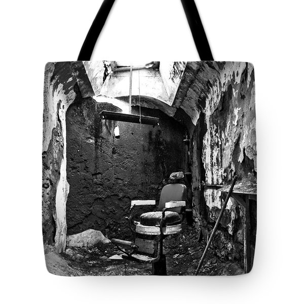 The Barber Chair - Bw Tote Bag