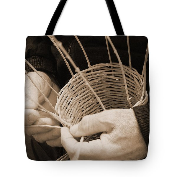 The Basket Weaver Tote Bag by Marcia Socolik