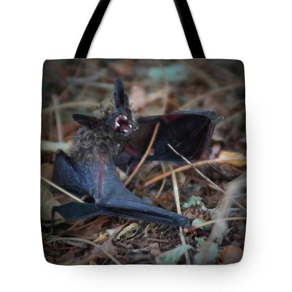 The Bat Painterly Tote Bag by Ernie Echols