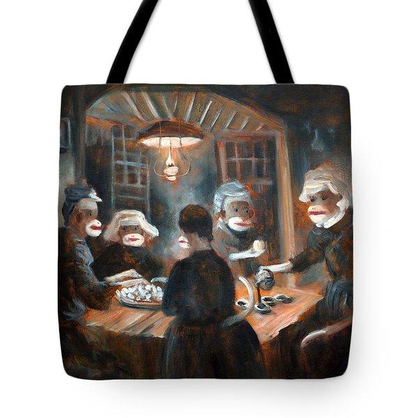 Tater Eatin Tote Bag by Randy Burns
