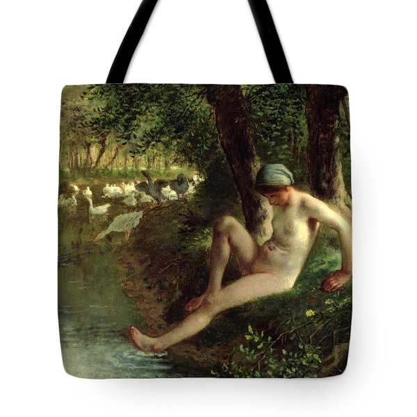 The Bather Tote Bag by Jean Francois Millet