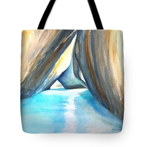 The Baths Azul Tote Bag