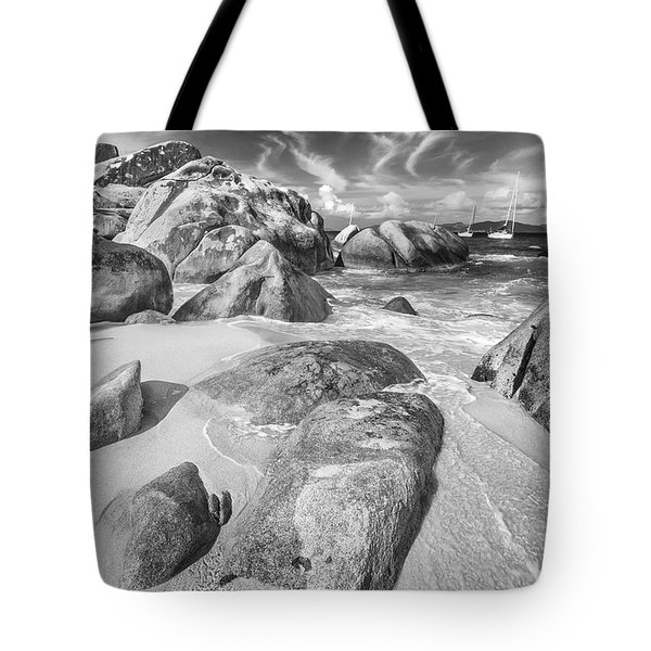 The Baths In Black And White Tote Bag