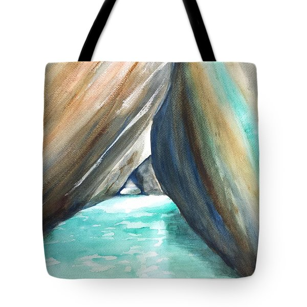 The Baths Turquoise Tote Bag