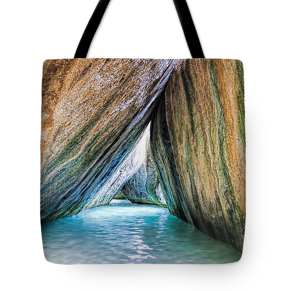 The Baths Virgin Gorda British Virgin Islands Tote Bag