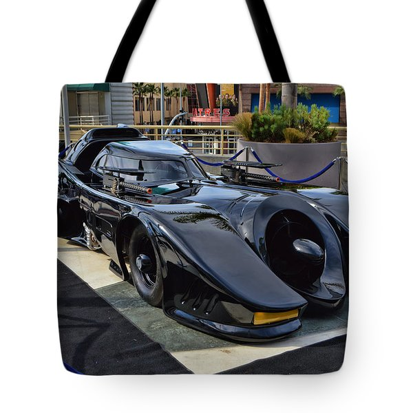The Batmobile Tote Bag by Tommy Anderson