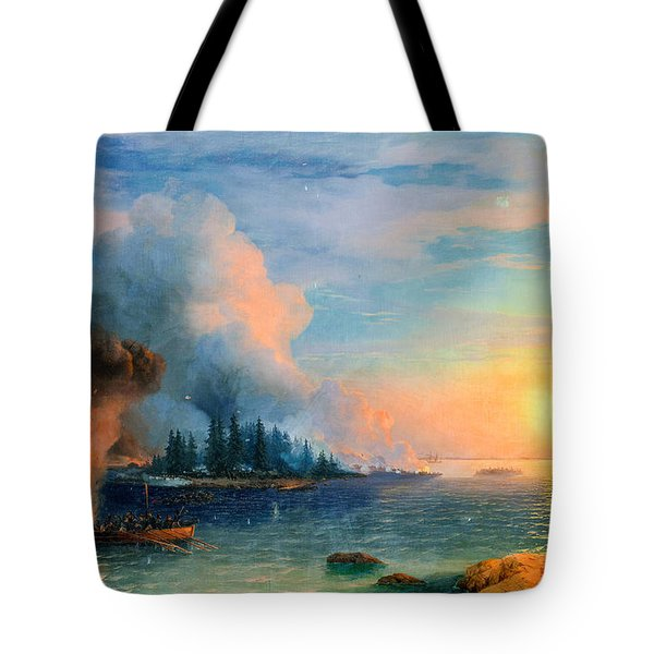 The Battle Of Bomarsund. 1858  Tote Bag