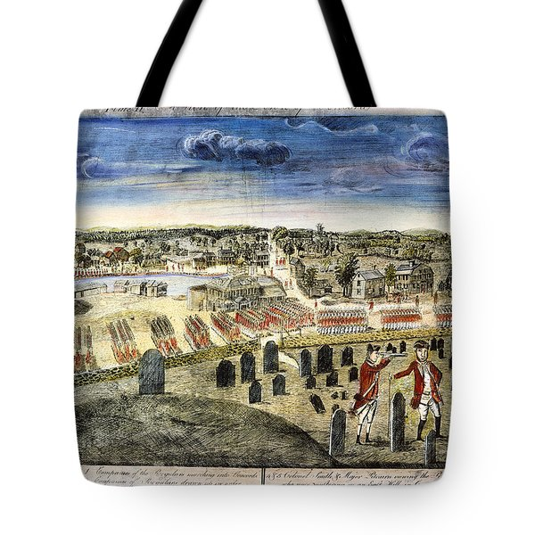 The Battle Of Concord, 1775 Tote Bag by Granger