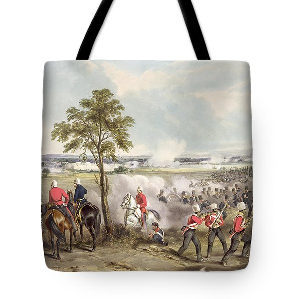 The Battle Of Goojerat On 21st February Tote Bag