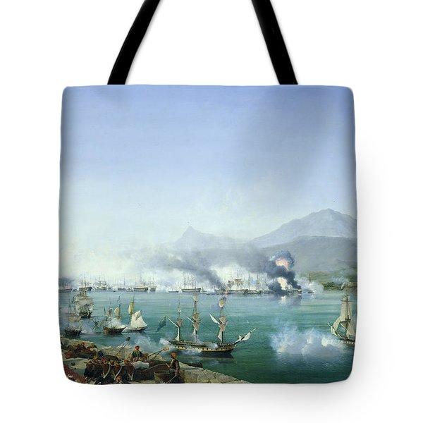 The Battle Of Navarino Tote Bag