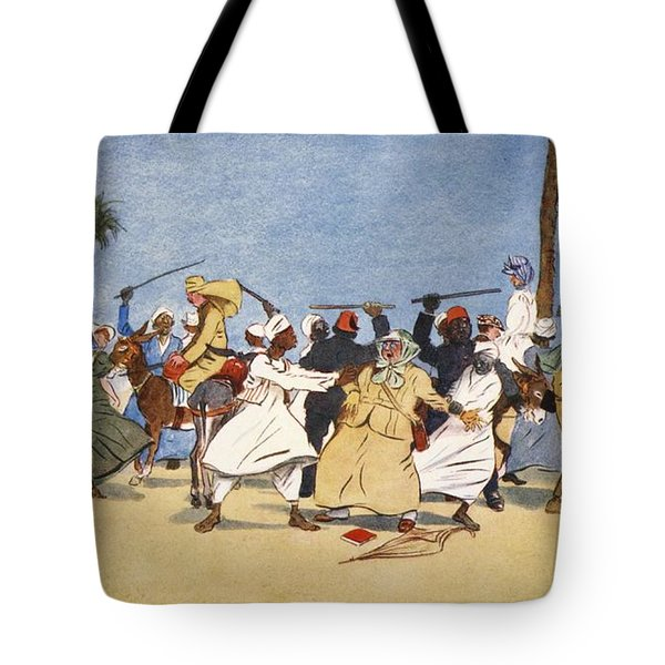 The Battle Of The Nile, From The Light Tote Bag by Lance Thackeray