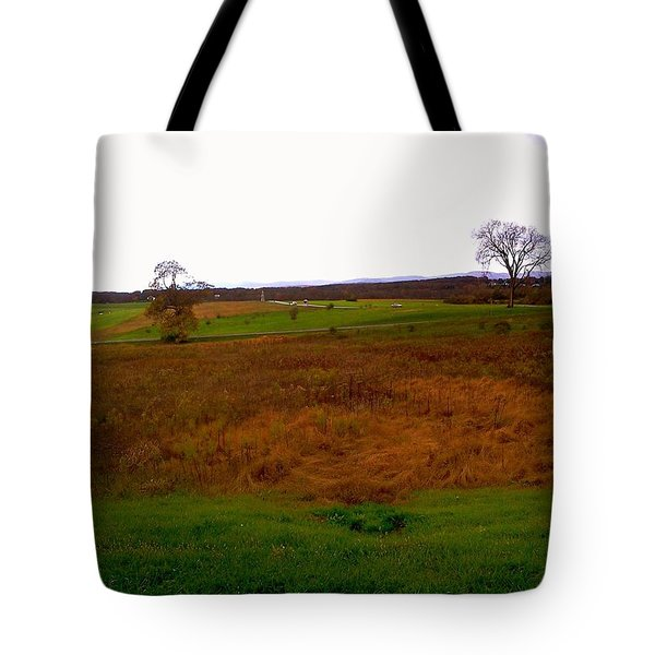 The Battlefield Of Gettysburg Tote Bag
