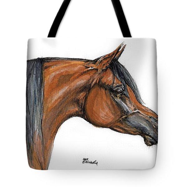 The Bay Arabian Horse 18 Tote Bag by Angel  Tarantella