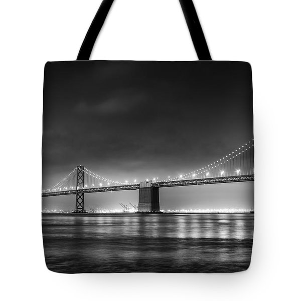 The Bay Bridge Monochrome Tote Bag