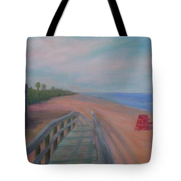 The Beach At Flagler Beach Tote Bag