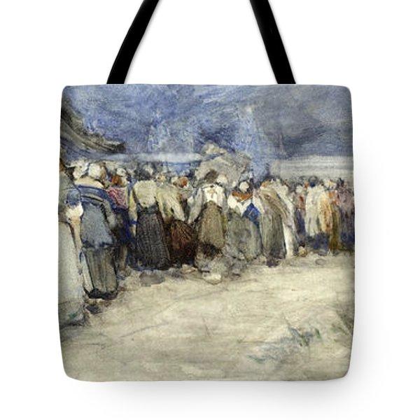 The Beach Berck Sur Mer Tote Bag by Patty Townsend Johnson