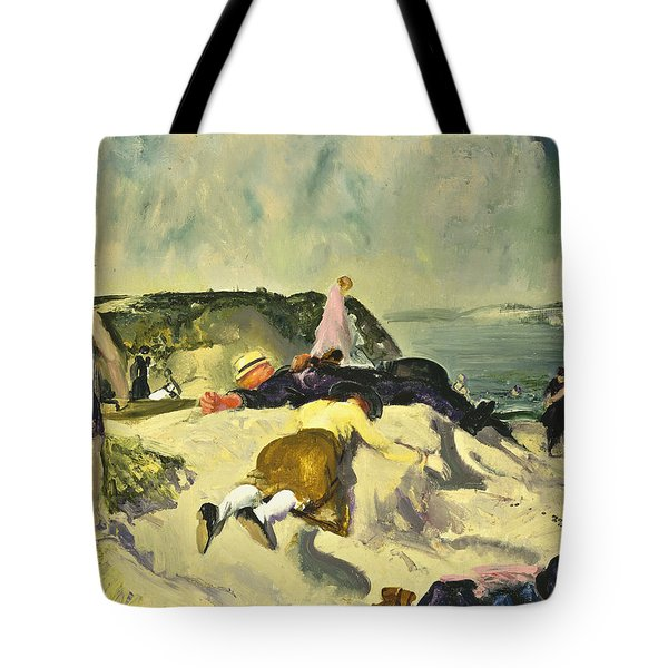 The Beach Newport Tote Bag by George Wesley Bellows