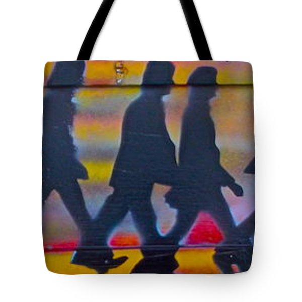 The Beatles Long Wood Tote Bag by Tony B Conscious