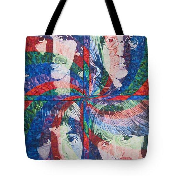 The Beatles Squared Tote Bag
