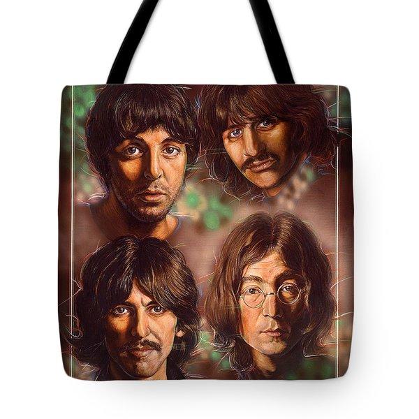 The Beatles Tote Bag by Tim  Scoggins