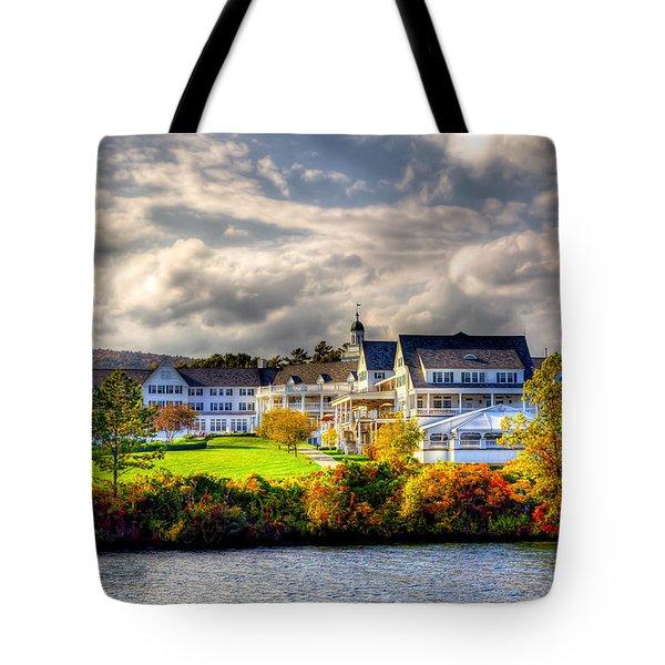 The Beautiful Sagamore Hotel On Lake George Tote Bag