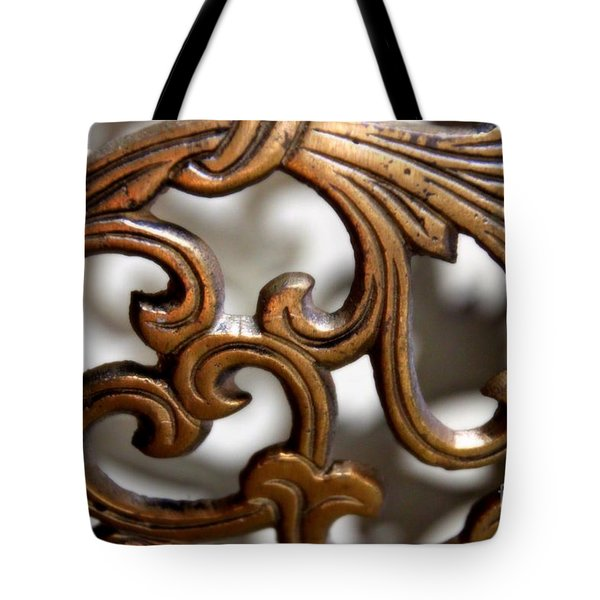 The Beauty Of Brass Scrolls 1 Tote Bag