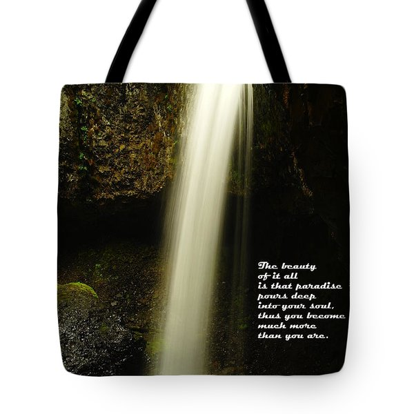 The Beauty Of It All Tote Bag by Jeff Swan