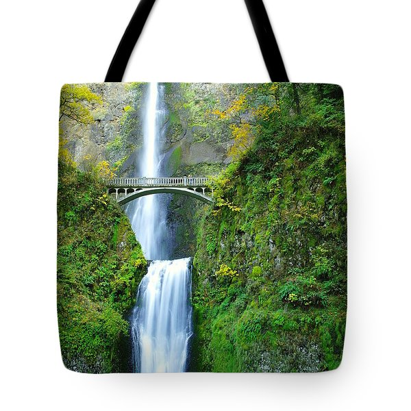 The Beauty Of Multnomah Falls Tote Bag by Jeff Swan