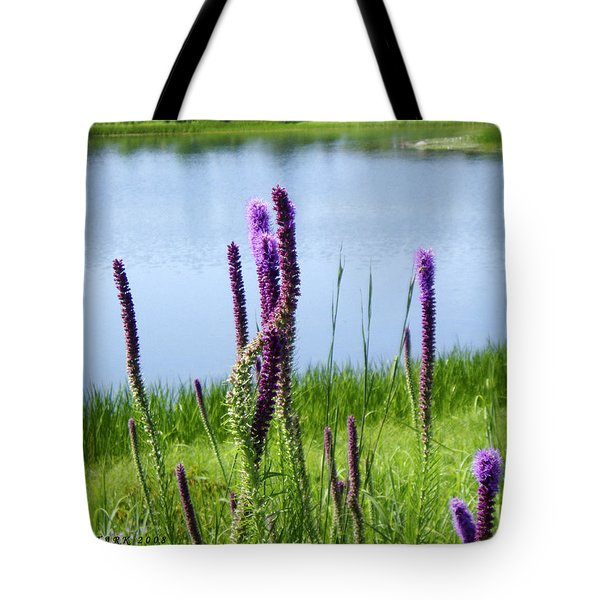 Tote Bag featuring the photograph The Beauty Of The Liatris by Verana Stark