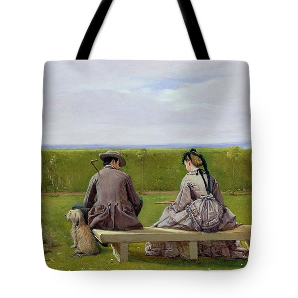 The Bench By The Sea Tote Bag