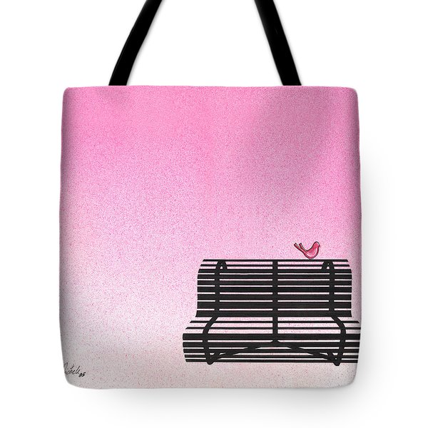 The Bench Tote Bag by Daniele Zambardi
