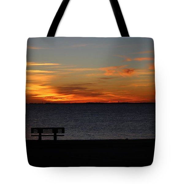 Tote Bag featuring the photograph The Bench by Faith Williams