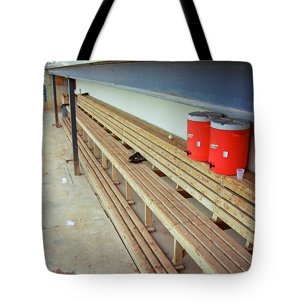 The Bench Tote Bag by Frank Romeo