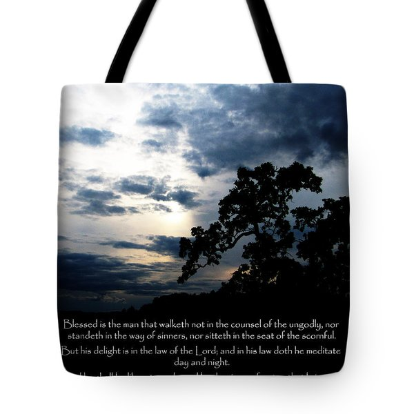 The Bible Psalm 1 Tote Bag