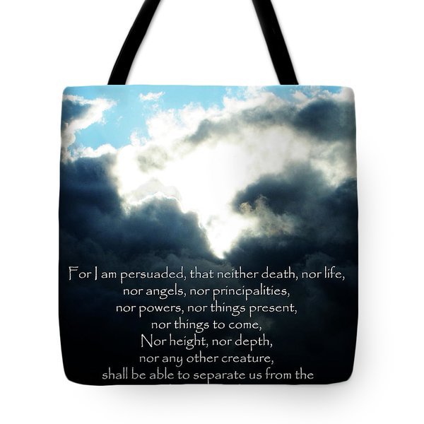 The Bible Romans 8 Tote Bag