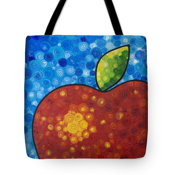 The Big Apple - Red Apple By Sharon Cummings Tote Bag by Sharon Cummings