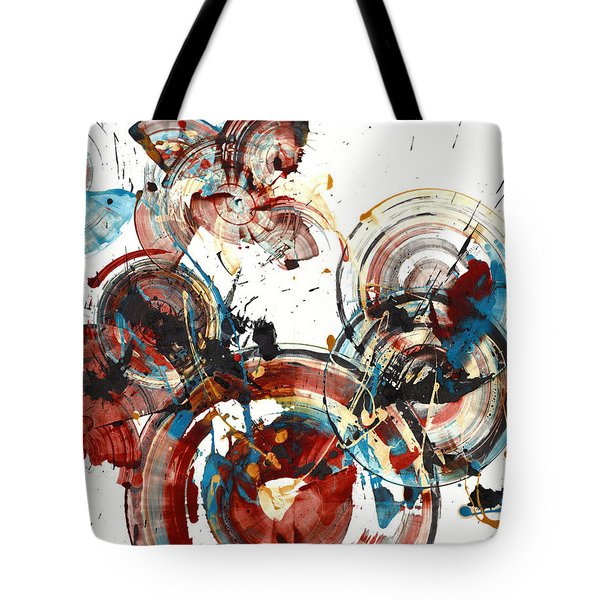 Tote Bag featuring the painting The Big Bang by Kris Haas