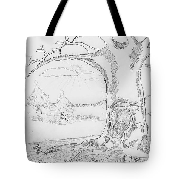 Tote Bag featuring the painting The Big Oak  by Felicia Tica