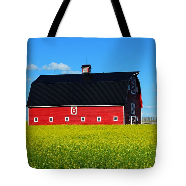 The Big Red Barn Tote Bag by Bob Christopher
